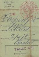 Vignette Fiscalevelocipede 1956 (LOT AE 23) - Vieux Papiers