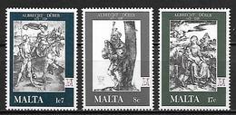 MALTE    -   1978 .   Y&T N° 561 à 563 **.   Albrecht Dürer.    Série Complète - Malta
