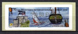 Vignette LISA  //  Fetes Maritimes Internationnales  //  Brest  2016 - 2010-... Abgebildete Automatenmarke