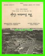CARTES DE VISITE - BUSINESS CARD - THE FOUNTAIN CAFE, BONNERS FERRY, IDAHO - - Cartes De Visite