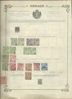 MONACO, ANDORRE,  MEMEL Sur 6 Anciennes Pages D'album. - Stamps