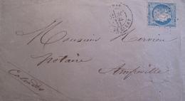 R1606/13 - ✉️ (LSC) - CERES N°37 - PARIS Rue De CLERY / ETOILE N°24 / 30 AVRIL 1871 - PARIS à AMFREVILLE (Calvados) - 1870 Siège De Paris