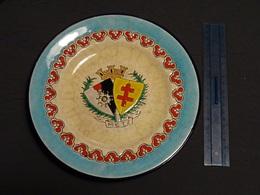 Emaux De Longwy - Assiette Aux Blasons De Metz Et De La Lorraine, Plus La Légion D'Honneur De La Ville - 1918 - 1914-18