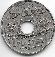 *lebanon  1 Piastres 1936   Km3   Vf+ - Liban