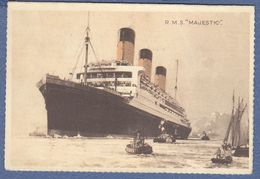 1934.R.M.S. MAJESTIC-WHITE STAR LINE-LETTER CARD-From New York United States To Belgrade Yugoslavia - Bateaux