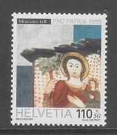 """TIMBRE NEUF DE SUISSE - """"SAINT CHRISTOPHE PORTANT L'ENFANT JESUS"""", DETAIL PEINTURE (POUR LA PATRIE 1999) N° Y&T 1612 - Religieux"""