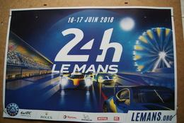 AFFICHE  24 Heures Du Mans  AUTO  2018  (Envoi En Tube Postal) - Voitures (Courses)