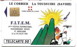 TÉLÉCARTE PHONECARD PUBLIQUE  FITEM 90 F 119 MODÉLISME LE CORBIER LA TOUSSUIRE - France