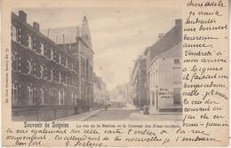 Souvenir De Soignies - La Rue De La Station Et Le Couvent Des Franciscaines - 1901 - Ed. Nels Bruxelles Serie 4 N° 72 - Soignies