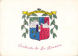 ILE DE LA REUNION   /   - BLASON  - CARTE DE VOEUX NON DATEE - La Réunion