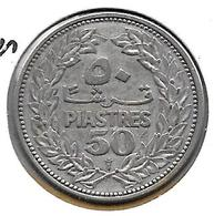 *lebanon  50 Piastres 1952   Km 17   XF - Liban