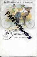 Rare Postcard, Germany, German, Dresden, Seidel And Naumann, Les Bicylettes, Tandem, Sont Les Meilleures, Circa 1890s. - Radsport