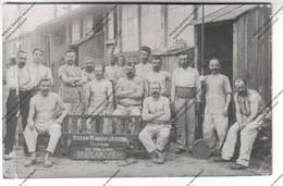 RARE CARTE PHOTO MILITARIA (89) : Station Magasin D'Auxerre Guerre De 1914 à 1915 BOULANGERIE - Guerra 1914-18
