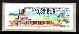Vignette LISA  //  Exposition Histoire Postale Marcophilex  //  Issoire 2017 - 2010-... Abgebildete Automatenmarke