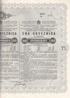 3392  SLOVENIJA  6 X  OBVEZNICA  100 DINARA  1937   NR.001-002-003-004-005-006 - Slovénie