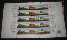 Treinen: 75 Jaar NMBS 2993/95** - Volledig Vel Treinen - 5 Fois Bande De 3 + 2 Vignettes Dans Une Feuille Complêt SNCB - Full Sheets