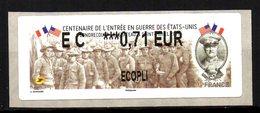 Vignette LISA  //  Centenaire De L'entrée En Guerre Des états Unis  //  Condrecourt Le Chateau & St Michel 2017 - 2010-... Vignettes Illustrées