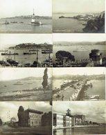 8 CP Photo ISTAMBUL CONSTANTINOPLE Turquie -Vues Diverses Sur Le Bosphore, Fontaine Top-Hané, Palais Dolma-Bagtché - Turquie