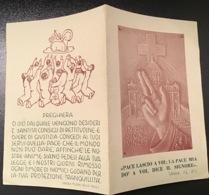 """Antico Santino Holy Card """" TRIPLICE SEGNO DELLA CROCE , DELLA CHIESA E DEL PAPA"""" - Religione & Esoterismo"""