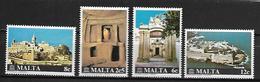 MALTE    -   1980 .   Y&T N° 598 à 601 **.   UNESCO  /  Monuments.   Série Complète - Malta