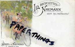 Rare Postcard, Germany, German, Seidel And Naumann, Dresden, Les Bicylettes, Sont Les Meilleures, Circa 1890s. - Radsport