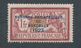 N-308: FRANCE:   Lot Avec N° 182* Congrés Phila De Bordeaux - France