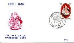 BELGIQUE. N°1900 De 1978 Sur Enveloppe 1er Jour. Enseignement Communal. - Cultures