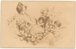 R.R. ? - Femme Et Amours, Angelots - S.B.W. - Other Illustrators