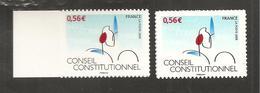 France, Autoadhésif, Adhésif, 337, 337A, Neuf **, TTB, Conseil Constitutionnel - Adhésifs (autocollants)