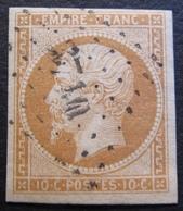 R1606/20 - NAPOLEON III N°13A - LUXE - PC 3710 : ALGER (ALGERIE) INDICE 3 - BUREAU SUPPLEMENTAIRE - 1853-1860 Napoléon III