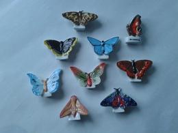 Lot De 9 Papillons : Azure Commun - Moire Blanc - Morio - Sphynx De La Vigne - écaille Rouge - Demi Deuil - Etc... - Animaux