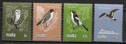 MALTE    -   1981 .   Y&T N° 612 à 615 **.   Oiseaux.  Hibou .   Série Complète - Malta