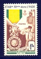 Inde 1952 Yvert 258 ** TB Coin De Feuille - Nuevos