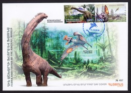 Armenien/Armenie/Armenia 2018,  Fauna Of The Ancient World, Dinosaurs, Tapejara Argentinosaurus - FDC - Armenia