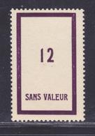 FRANCE FICTIF N° F108 ** MNH Neuf Sans Charnière, TB - Phantom