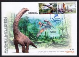 Armenien/Armenie/Armenia 2018,  Fauna Of The Ancient World, Dinosaurs, Tapejara Argentinosaurus - FDC - Stamps