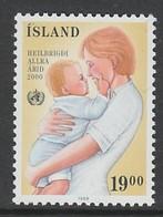 TIMBRE NEUF D'ISLANDE - SANTE POUR TOUS EN L'AN 2000 : MERE ET ENFANT N° Y&T 647 - Santé