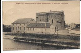 Seneffe - Manufactures De Câbles, Accumulateurs & Appareils Electriques -1909 Circulée 1912 Niuvel  Molenbez St Jean - Seneffe