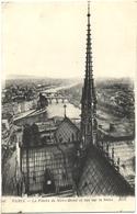 LOT 2 CPA DE PARIS IV. LA FLECHE DE NOTRE-DAME ET VUE SUR LA SEINE. BASE DE LA FLECHE - Notre Dame De Paris