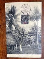 C.P.A. :TAHITI : Iles Marquises : Un Chemin à Atuana, Timbre En 1908 - Tahiti