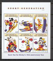 Disney St Vincent Gr 1999 Sport Generation MS MNH - Disney