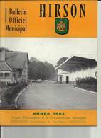 Lot 19 Bulletins Municipaux De La Ville D'Hirson Des Années 60 à 90   Aisne - 1950 - Oggi