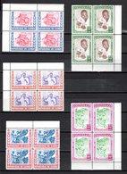 GUINEE N° 27 à 31 BLOC DE QUATRE  NEUFS SANS CHARNIERE COTE 48.00€  SANTE NATIONALE - Guinée (1958-...)