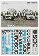 CARTE CYCLISME GROUPE TEAM SCIC 1976 FORMAT 19,5 X 27,5 - Cyclisme
