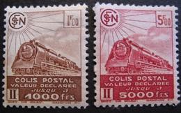 R1606/26 - 1942 - COLIS POSTAUX - N°187B à 188B NEUFS* - Paketmarken