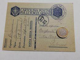 2870) FRANCHIGIA POSTA MILITARE REGIA MARINA CREM MESSINA 12-2-1941 X PALERMO - Storia Postale