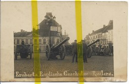 BELGIQUE FLANDRE ROULERS ROESELARE ARTILLERIE CANON CARTE PHOTO ALLEMANDE MILITARIA 1914 1918 WW1 WK1 - Roeselare