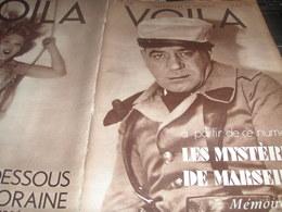 VOILA 34/ MARSEILLE /GOUVERNEUR INDOCHINE /MAROC OFFICIERS /QUERQUEVILLE MONSTRE /TITAYNA SOEMBA /VENISE AMOUR /SALMON - Livres, BD, Revues