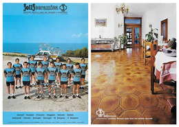CARTE CYCLISME GROUPE TEAM JOLLCERAMICA 1976 FORMAT 16,5 X 23,8 - Cyclisme