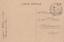 Carte Postale F.M. Armée De L'Air De Marseille Pour Mirecourt Obl. Marseille Le 14/6/40 - Marcophilie (Lettres)